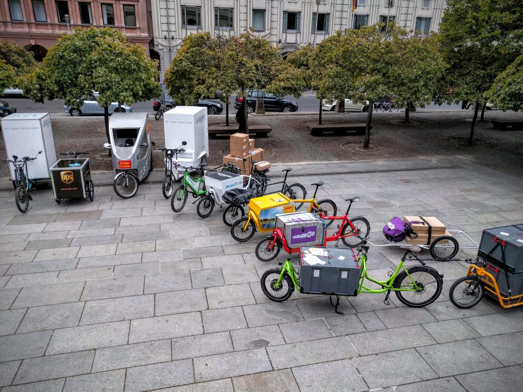 Lastenrad -Versammlung in Berlin