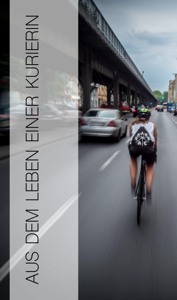 Fahrradkurierin bei Fahrwerk
